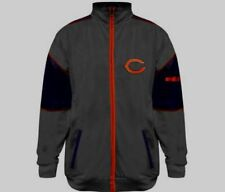Chicago Bears Full Zip Track Jacket 2XL Navy Majestic Charcoal Grey Vibrant NFL