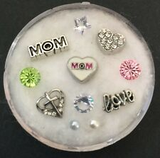 Floating Charm Set~*~Love My MOM Mother's Day Religious~*~Living Memory Lockets