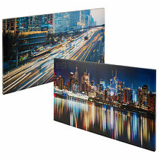 Set of 2 Night Mix Contemporary Canvases Canvas Print Giclee Wall Hanging Art