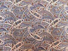2 x genuine authentic vintage blue green paisley viscose twill fabric material