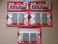 SUZUKI GSX-R 600 (SRAD) 1999 GSXR600   FULL SET SINTERED BRAKE PADS *GOLDFREN
