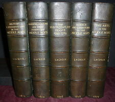 Lacroix, 5V France Arts, Customs, Military, Costumes. Middle Ages. Bayntun Bndg