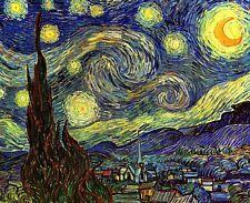 A Noche Estrellada Cuadro Patrón De Estrellas by Van Gogh Giclée Lienzo/
