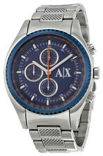 Armani Exchange AX1607 Blue Dial Stainless Steel Chronograph Men's Watch