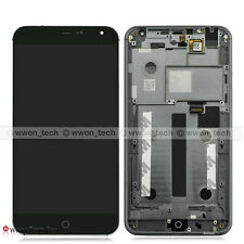 """5.36"""" Black Meizu MX4 LCD Display Touch Screen Digitizer Assembly+Front Frame"""