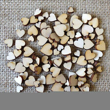 100pcs Rustic Wooden Love Heart Wedding Table Scatter Decoration Crafts8X6 Nice