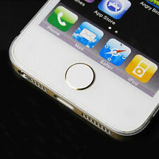 2*Aluminium Home Button Sticker Metal For Apple iPhone6 5S 5C 4S iPod Touch iPad