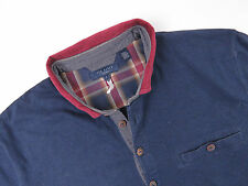 ID087 TED BAKER POLO LONGSLEEVE SHIRT TOP ORIGINAL PREMIUM RUGBY NAVY size 4