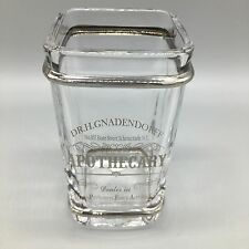 BELLA LUX Parisian Dr H Gnaderdoff Apothecary Glass Toothbrush Holder Silver NEW