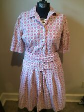 Vintage 60's Canvas Atomic Handmade Business Casual Work Retro 2 Piece Dress Mod