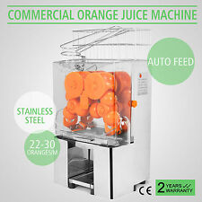 ELECTRIC COMMERCIAL ORANGE JUICER SQUEEZER LEMON JUICE MACHINE STAINLESS