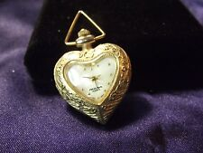 Woman's Milan Vintage Heart Pendent Watch  **Nice** B25-525
