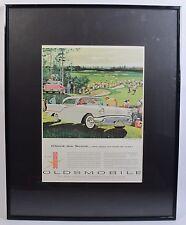 Vintage Oldsmobile Super 88 Holiday Sedan Advertising Print Ads With Frame
