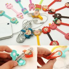 Animal Cartoon Earphone Winder Wire Thread Wrap Cable Cord Organizer Holder Clip
