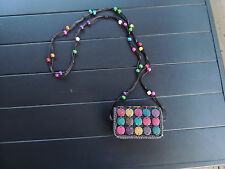 Vintage Hippie Bead and Button Purse
