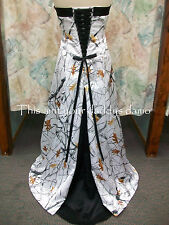 Made in the USA CAMO A Line Wedding Gown w/ sweep train 'Amanda Lyn'