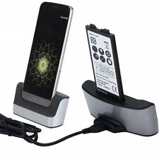 Dual Sync Battery Charger Cradle Dock Station Stand For LG V20 H990 H910 New