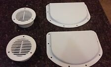 TRAILER SIDE WALL AIR VENTS - WHITE 2 inner 2 outer FREE FAST SHIPPING flow