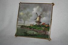 Ceramic Tile/Hot Plate 'Dutch Windmill Scene' Made in Luxemburg