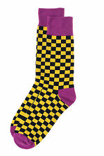 Mens Fun Groomsmen Colorful Fashion Designer Dress Socks Mr.ZZ Checks