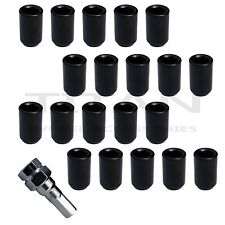 20 Piece BLACK Tuner Lugs Nuts | 12x1.25 Hex Lugs | Key Included