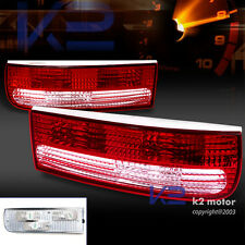 for 1990-1996 Nissan 300ZX Z32 Fairlady Z Red/Clear tail Lights