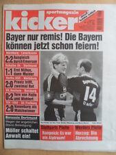 KICKER 37 - 6.5. 1999 Stuttgart-Bayern 0:2 Hertha-Wolfsburg 2:0 Schalke-BVB 1:1
