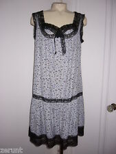 ANNA SUI ANTIQUE LACE BOW ANTHROPOLOGIE GEOMETRIC PRINT BAMBOO DRESS L 8 10