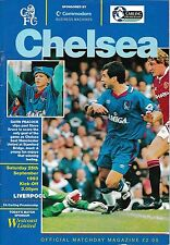 Football Programme CHELSEA v LIVERPOOL Sept 1993