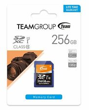 256GB Team UHS-I SDXC CL10 Memory Card - Read Speed up to 60MB/sec