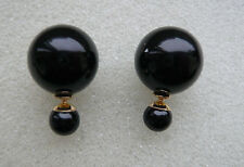 BLOGGERS FAV 18 MM DOUBLE SIDED BLACK PEARL STUDS CAN BE WORN EACH SIDE