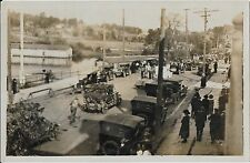 Real Photo Postcard - Christmas Parade, Vintage Cars, warm climate