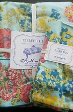 NWT 13 pc April Cornell Spring Easter Floral Tablecloth Napkins 60 x 120 Oblong