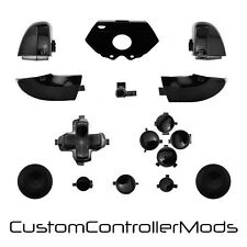 Replacement ABXY Bumper Trigger Button Set for XBOX One Controller (Black)