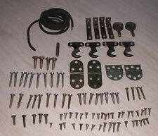 ANTIQUE HARDWARE PARTS, SCREWS, HINGES CAST IRON SINGER TREADLE SEWING MACHING