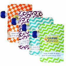Yummi Pouch Brights (Set of 4) - reusable food pouch