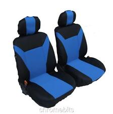 FRONT BLUE- BLACK FABRIC SEAT COVERS FOR OPEL VAUXHALL COMBO VIVARO MOVANO