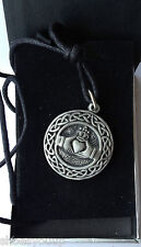 CELTIC CLADDAGH LOVE FRIENDSHIP Hand Made in UK Pewter Pendant Gift Boxed