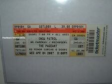 SNOW PATROL Concert Ticket 2007 ST. LOUIS MO THE PAGEANT CONCERT NIGHTCLUB Rare