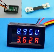 New 100V 100A DC Digital Voltmeter Ammeter LED Amp Volt Meter + Current Shunt
