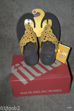 BRAND NEW GORGEOUS FITFLOP FLORA NUBUCK LEATHER FITFLOPS UK7 SUNFLOWER COLOUR!