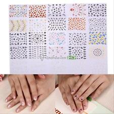 Lot 30Pcs 3D Colorful Flower Nail Art Stickers Tips Decals Natural DIY Decor