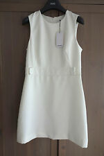 Size M UK10 MANGO *NWT* Cream Retro Vintage Fitted Lined A-line Shift Dress