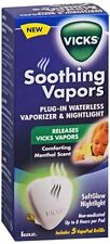 Vicks Soothing Vapors Plug-In Waterless Vaporizer - Nightlight 1 Each(Pack of 2)
