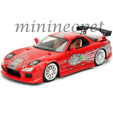 JADA 98338 FAST AND FURIOUS DOM'S MAZDA RX-7 1/24 DIECAST MODEL CAR RED