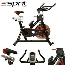 ELEV-8 Spin Exercise Bike Fitness Cardio Workout Machine BLACK/RED inc Warranty