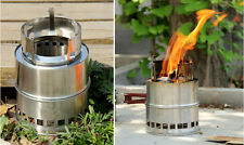 Ultralight Wood Gas Backpacking Emergency Survival Burning Camping Picnic Stove