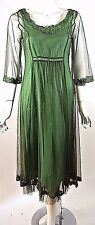 Nataya Dress Sale Green Tulle Victorian Gatsby Sheer S-small