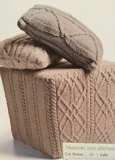 Cable Pouffe Cover  Knitting Pattern