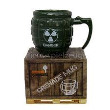 Granate Tasse Danger Granatengriff Becher Kaffeetasse Gun Mug Kaffeebecher grün
